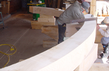 Cutting Laps on Curved Beam